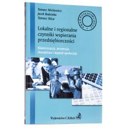 Lokalne i regionalne czynniki wsparcia przedsiębiorczości - okładka - awers